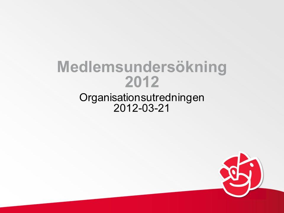 Medlemsundersökning 2012 Organisationsutredningen 2012-03-21