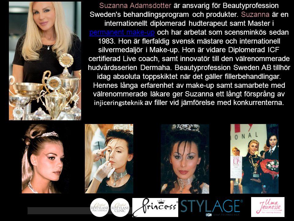 Suzanna Adamsdotter är ansvarig för Beautyprofession Sweden's behandlingsprogram och produkter. Suzanna är en internationellt diplomerad hudterapeut s