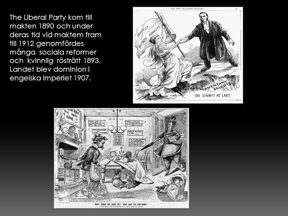 The Liberal Party kom till makten 1890 och under deras tid vid maktem fram till 1912 genomfördes många sociala reformer och kvinnlig rösträtt 1893. La