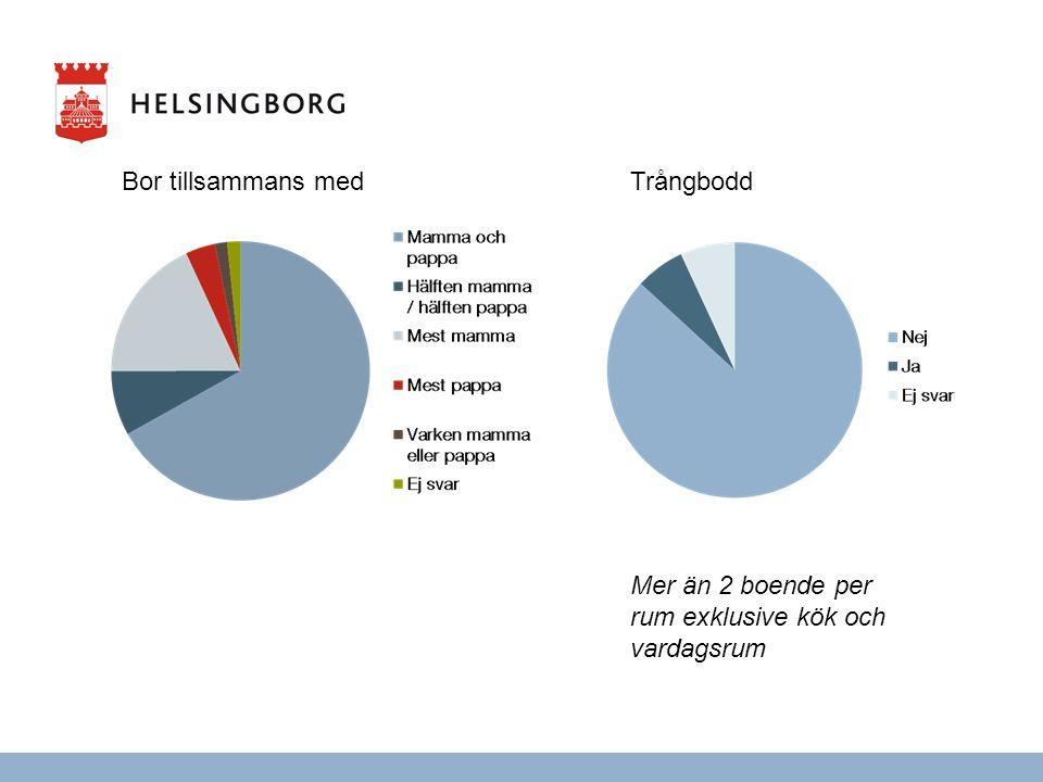 Bor tillsammans medTrångbodd Mer än 2 boende per rum exklusive kök och vardagsrum