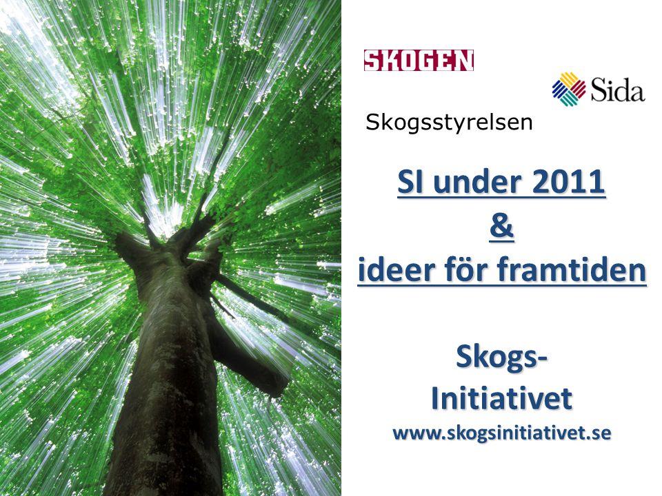 SI under 2011 & ideer för framtiden Skogs- Initiativet www.skogsinitiativet.se Skogsstyrelsen