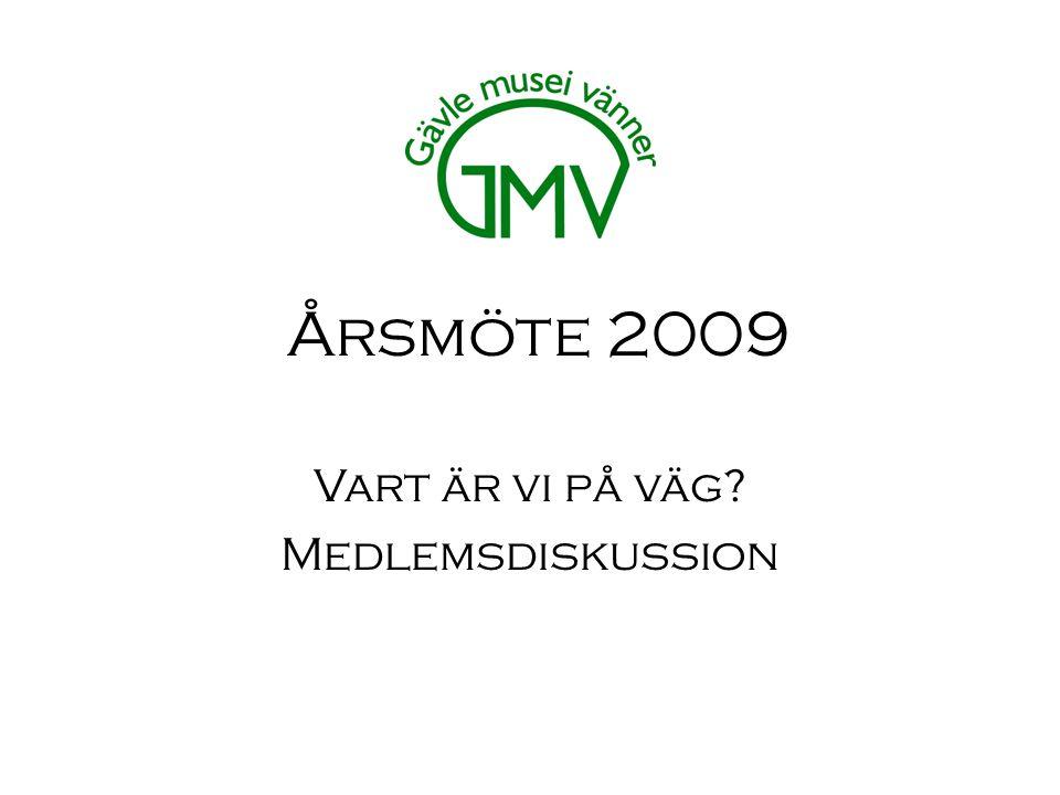 Årsmöte 2009 Vart är vi på väg Medlemsdiskussion