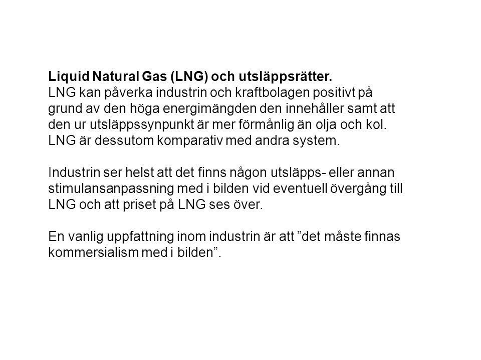 Liquid Natural Gas (LNG) och utsläppsrätter.