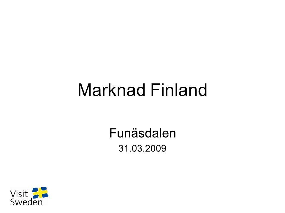 Bakgrund om den finska marknaden •Mogen närmarknad med gemensam historia, starka kulturband & långa traditioner i resandet till Sverige.