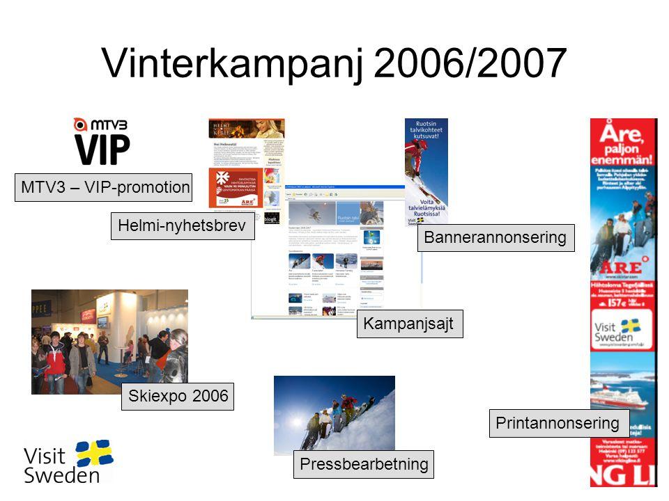 Vinterkampanj 2006/2007 MTV3 – VIP-promotion Printannonsering Skiexpo 2006 Kampanjsajt Bannerannonsering Pressbearbetning Helmi-nyhetsbrev