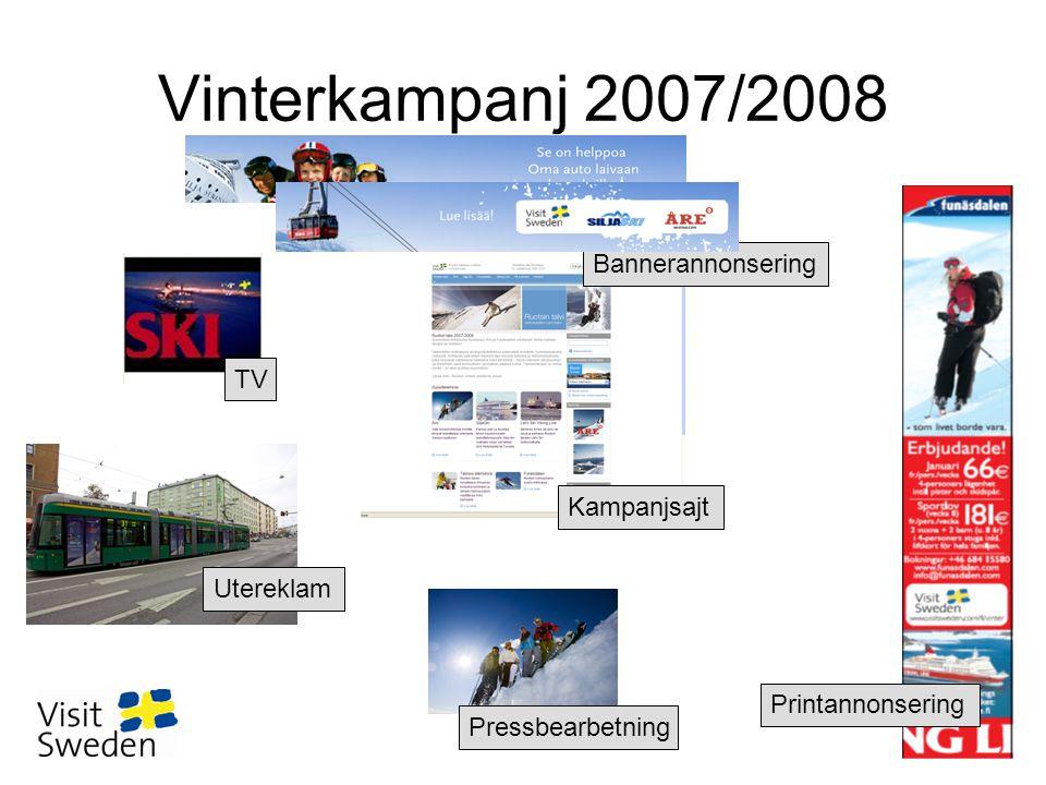 Vinterkampanj 2007/2008 Utereklam Printannonsering Pressbearbetning Kampanjsajt TV Bannerannonsering