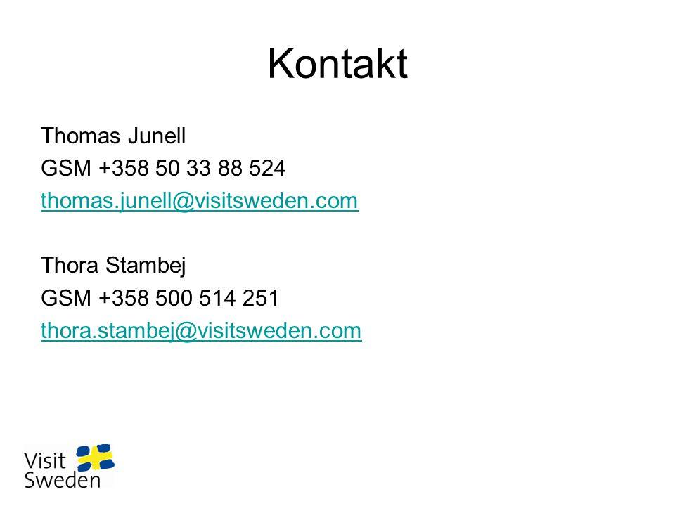 Kontakt Thomas Junell GSM +358 50 33 88 524 thomas.junell@visitsweden.com Thora Stambej GSM +358 500 514 251 thora.stambej@visitsweden.com