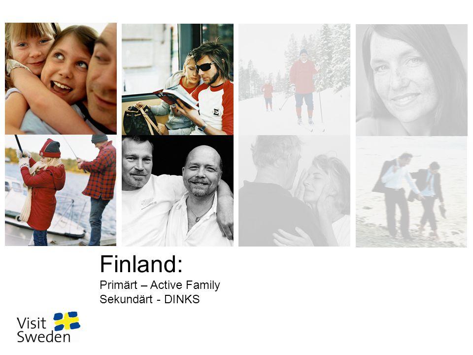 Den globala resenären i Finland Active Family •266 000 personer, 46% är bosatta i södra Finland (många i Helsingfors-regionen), en stor del av segmentet bor även i mindre städer.