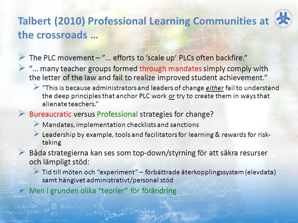 Slutsatser i termer av kontraster mellan två synsätt på reformer: GERM vs ESGA (2012)  Global Educational Reform Movement (GERM)  Centraliserad styrning  Praktiken förändras – press o tvång  Påtvingad standardisering  Datadriven förbättring (mål, glapp i produktionen, teaminsatser, industri )  Mål o utfallsnivåer, testdata, fokus på fel saker (ser inte de med särskilda behov)  Kortsiktiga perspektiv, omedelbara vinster