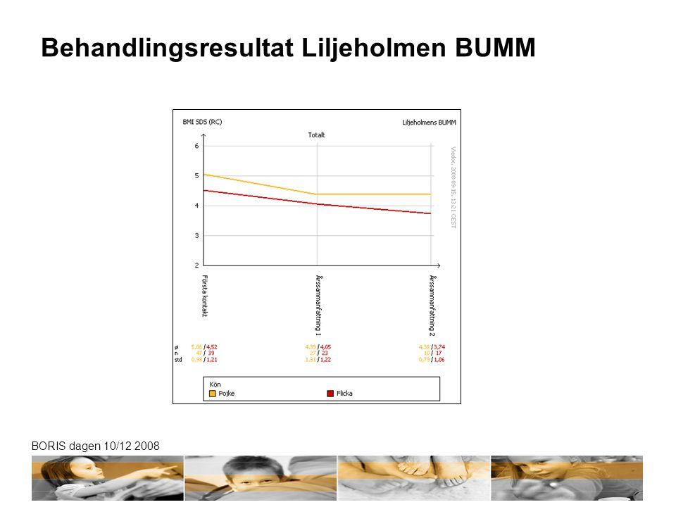 BORIS dagen 10/12 2008 Behandlingsresultat Liljeholmen BUMM