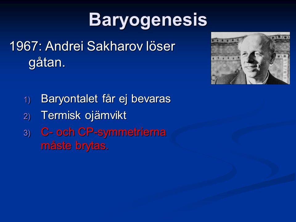 Baryogenesis 1967: Andrei Sakharov löser gåtan.