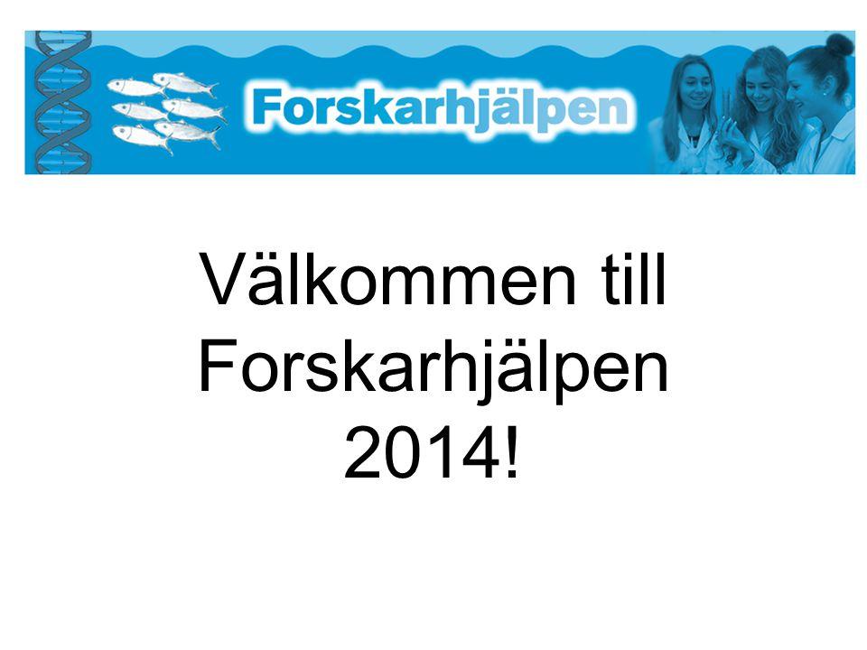 Välkommen till Forskarhjälpen 2014!