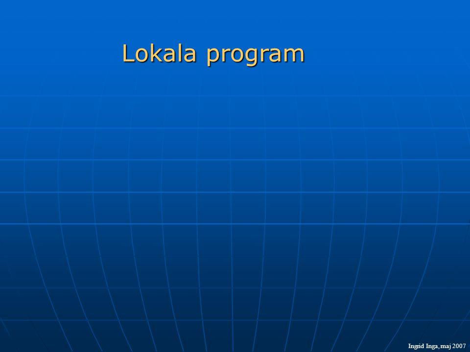 Lokala program