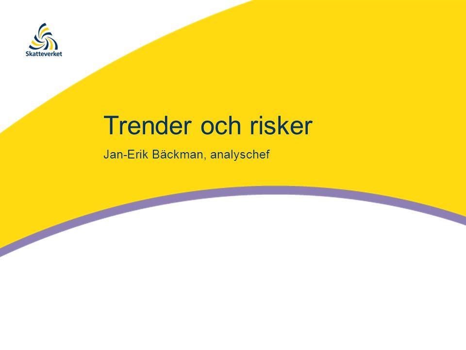 Trender och risker Jan-Erik Bäckman, analyschef