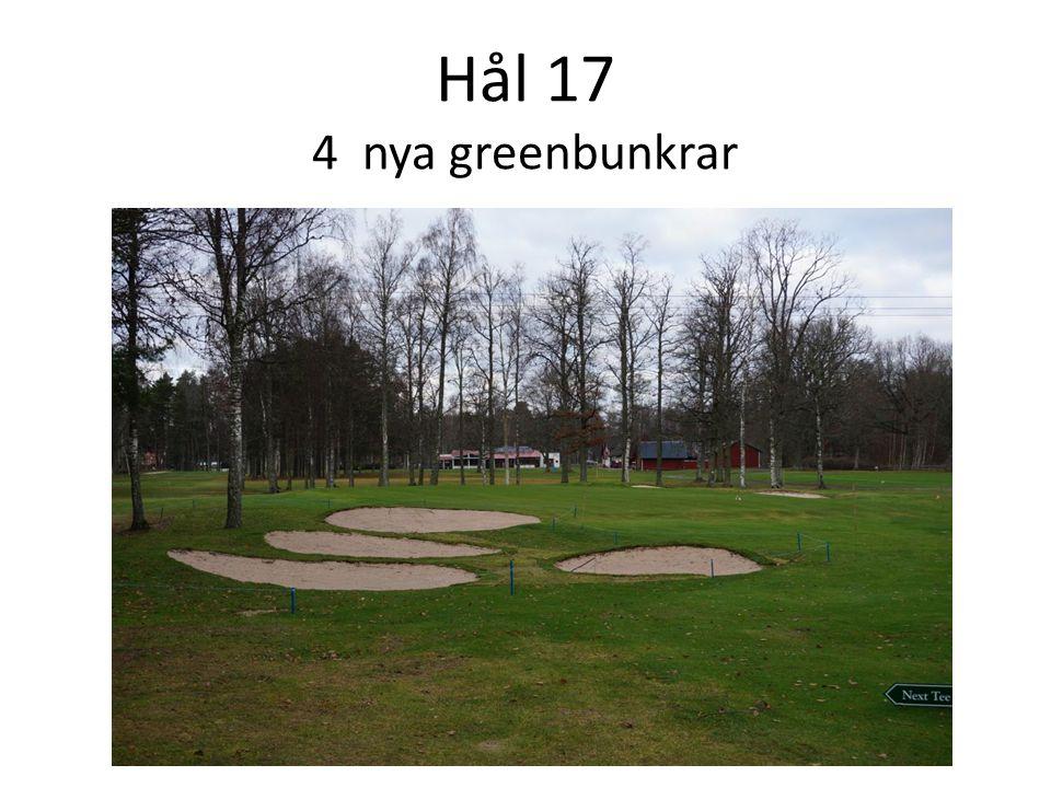 Hål 17 4 nya greenbunkrar