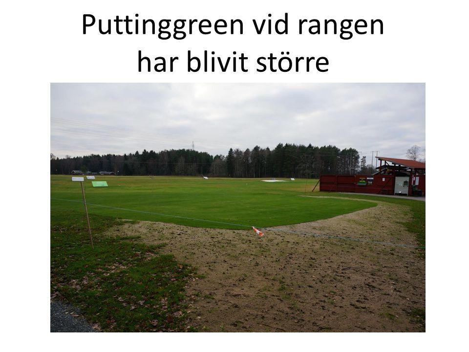 Puttinggreen vid rangen har blivit större