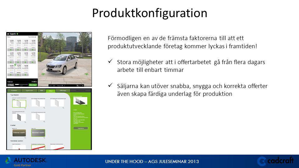 UNDER THE HOOD – AGS JULESEMINAR 2013 Förmodligen en av de främsta faktorerna till att ett produktutvecklande företag kommer lyckas i framtiden!  Sto