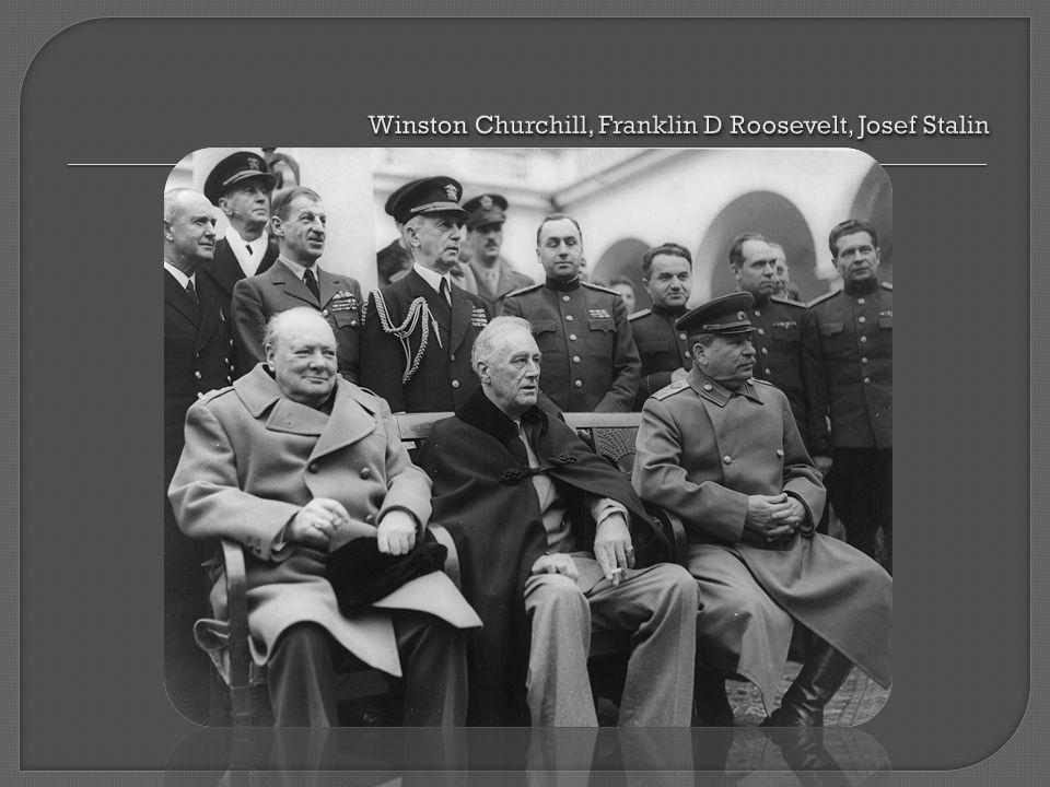  Potsdamkonferensen den 15 juli till 2 augusti 1945 • Deltagare: Churchill, Truman (ny president), Stalin • De fem D:na – Denazifiering, Demilitarisering, Demokratisering, Demontage, Decentralisering.