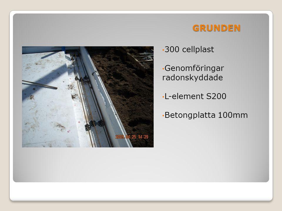 STOMMEN • Plåtsyll 400mm • Lätt regel R400 c/c 600 • 45X220 förstärkning ök fönster