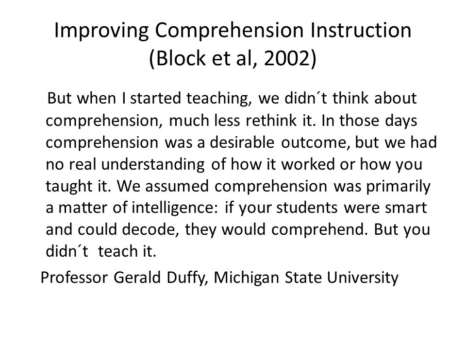 Literacy-trender och forskningsområden Cassidy och Cassidy (2010) Läsförståelse