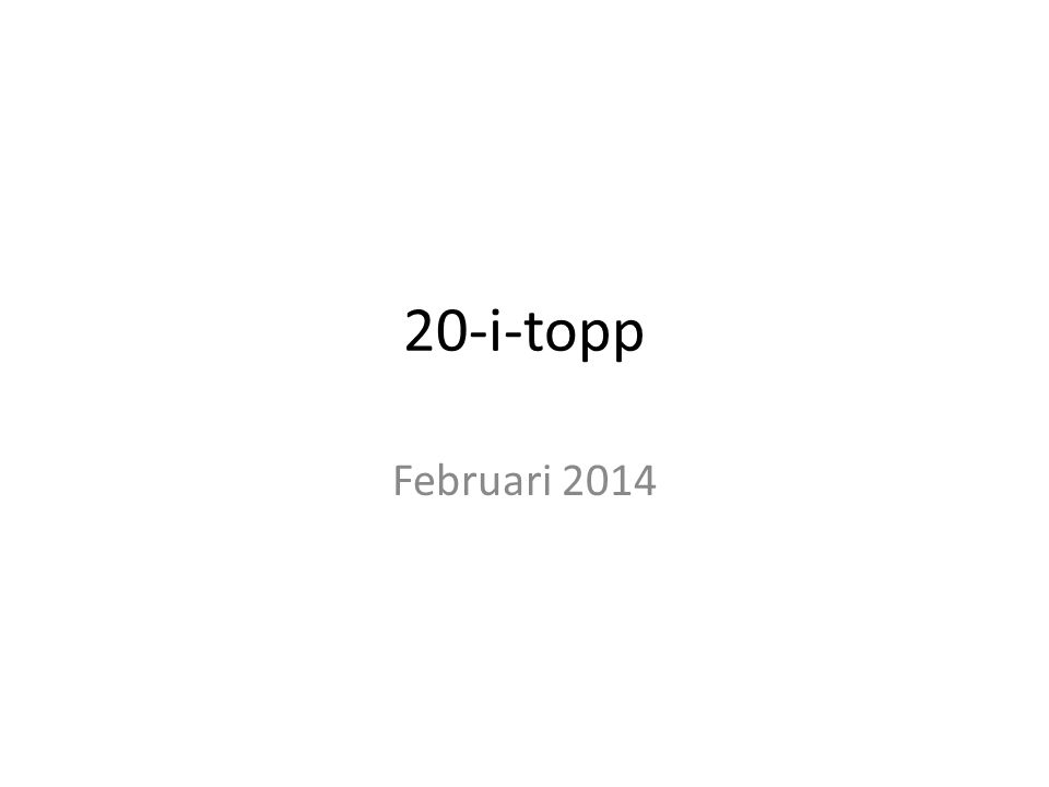 20-i-topp Februari 2014