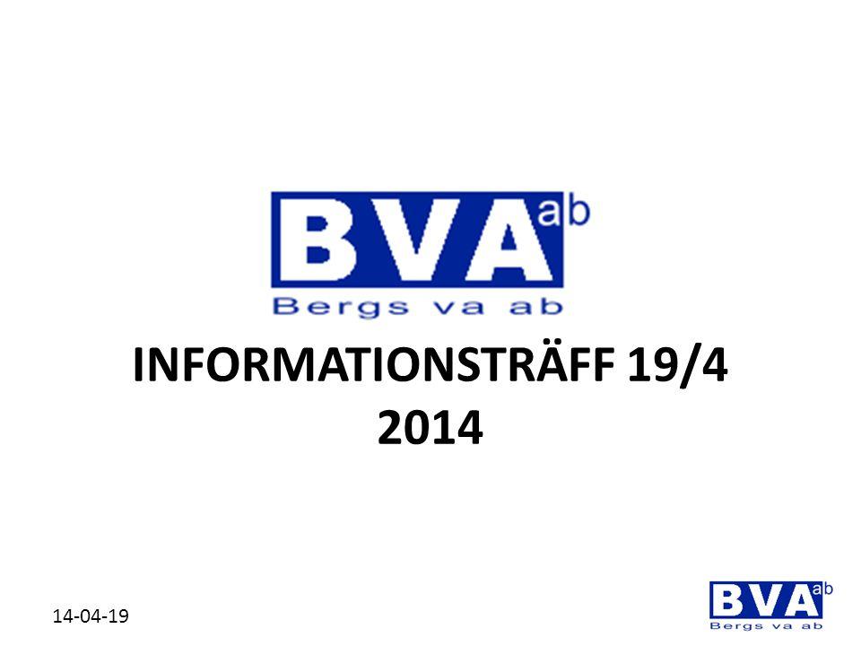 INFORMATIONSTRÄFF 19/4 2014 14-04-19