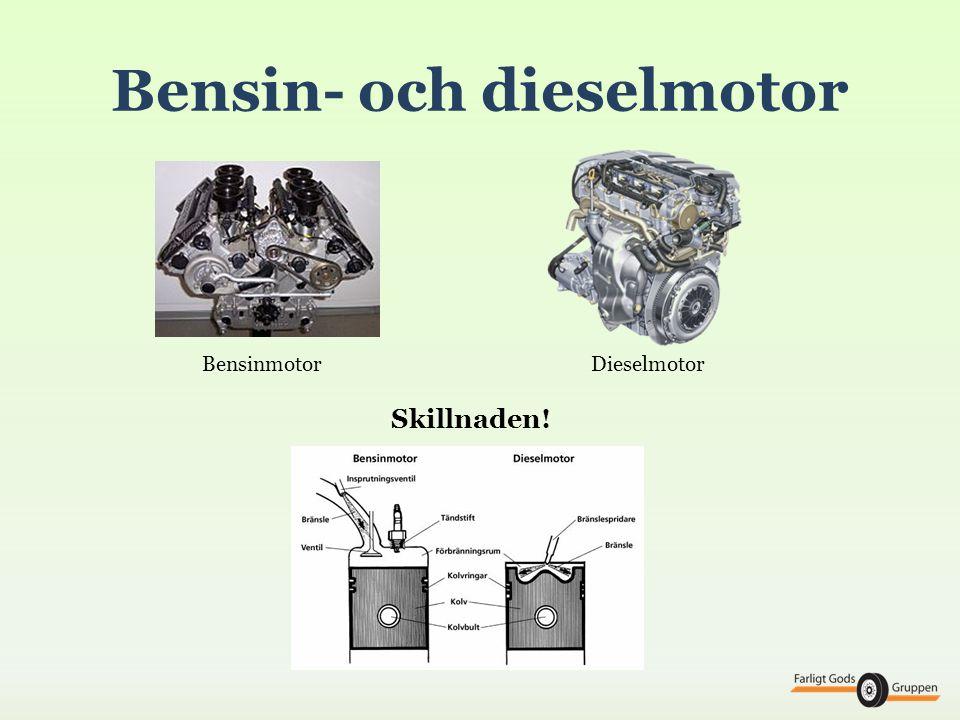 Katalysator Trevägskatalysatorn- för bensindrivna personbilar - renar från NOx, CO och OH Oxidationskatalysatorn- för dieseldrivna fordon - använder den stora mängden syre i avgaserna - renar bort CO och OH (till koldioxid och vatten) - kombineras med EGR-tekniken för att minska NOx - även partikelfilter renar från viss andel NOx