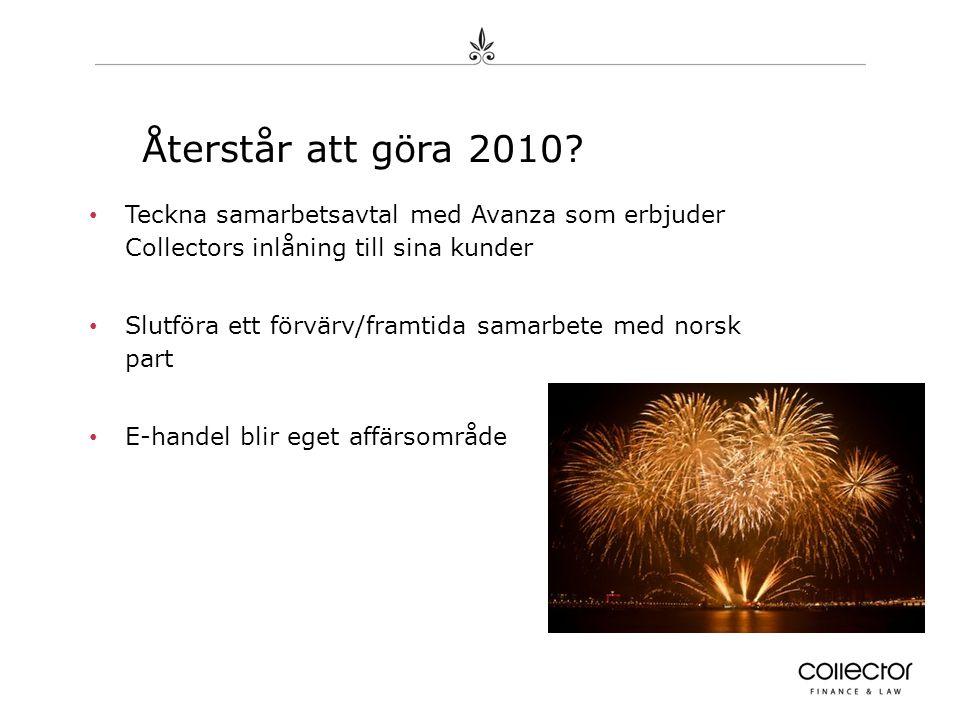 Återstår att göra 2010.