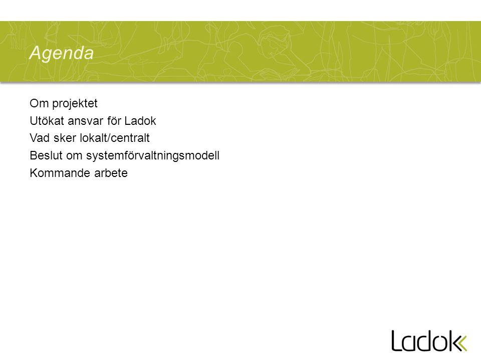 Projektet Förnyad förvaltning - Bakgrund 2011 initierades en utredning om förändringar i Ladoks förvaltningsorganisation med sikte på att Ladok3-leveranser ska kunna tas emot på bästa sätt Utredningsresultaten är grunden till projektdirektivet