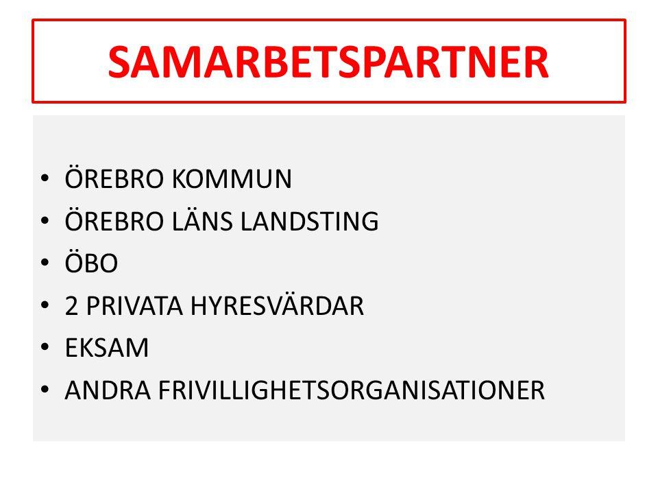 MÅL MED BOSTAD FÖRST • Att totalt minska hemlösheten i Örebro Kommun.