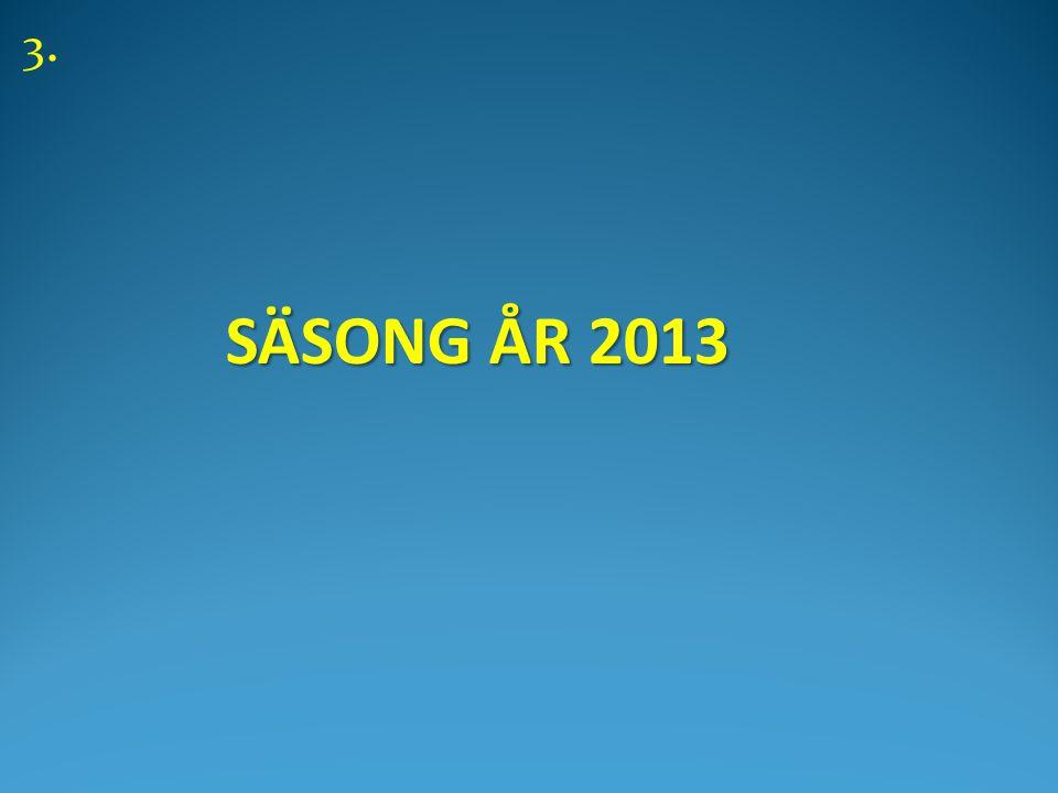 SÄSONG ÅR 2013 SÄSONG ÅR 2013 3.