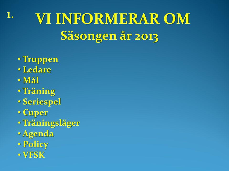 Februari: 3/2 Vintercup, blå + inomhus 6/2 EV konstgräs 9/2 Konstgräs 10/2 Inomhus 13/2 Utomhus.