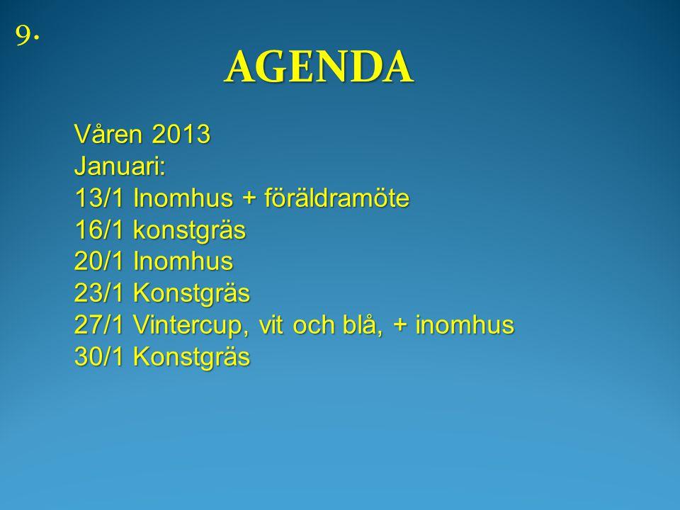 AGENDA AGENDA 9.