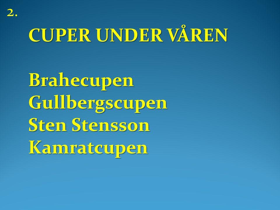 CUPER UNDER VÅREN BrahecupenGullbergscupen Sten Stensson Kamratcupen 2.