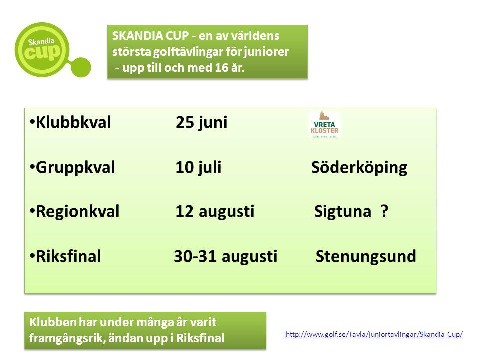 • Klubbkval 25 juni • Gruppkval 10 juli Söderköping • Regionkval 12 augusti Sigtuna ? • Riksfinal 30-31 augusti Stenungsund • Klubbkval 25 juni • Grup