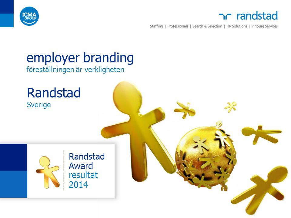 42 2014 Employer Branding: föreställningen är verkligheten Sverige karriär och utveckling är viktigare för personer under 40 år, personer över 40 attraheras mer av arbetsinnehåll och lön vilka egenskaper är de 5 viktigaste kriterierna när du väljer arbetsgivare.
