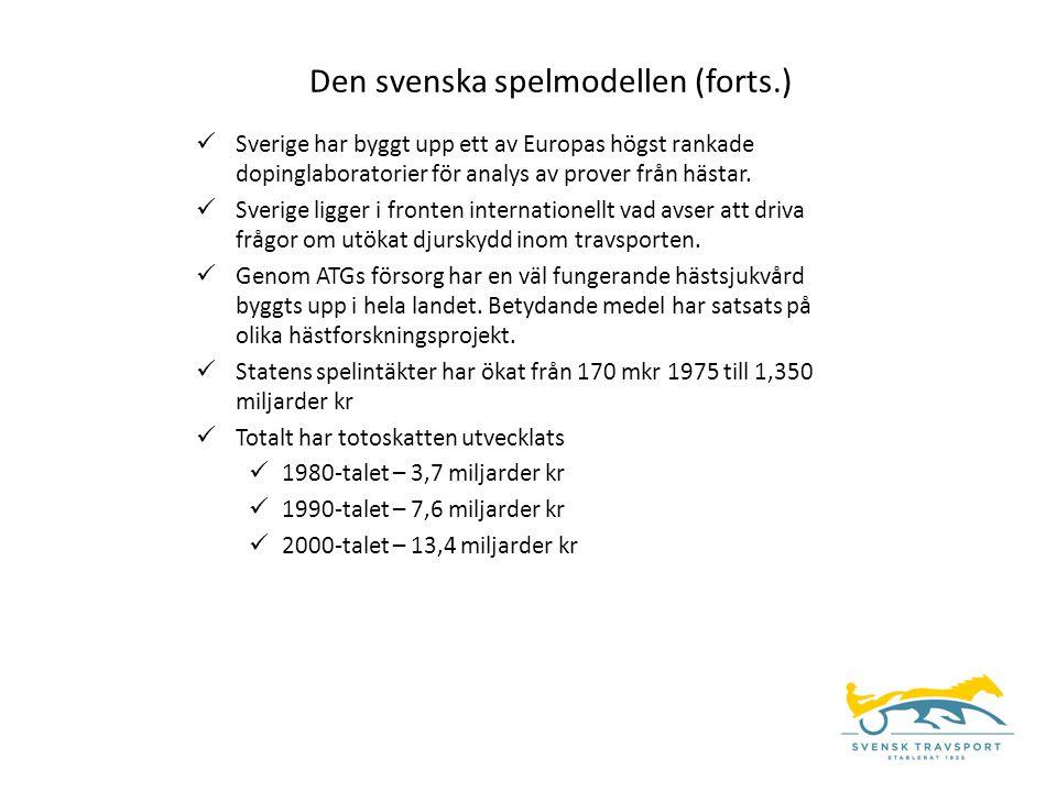  Sverige har byggt upp ett av Europas högst rankade dopinglaboratorier för analys av prover från hästar.  Sverige ligger i fronten internationellt v