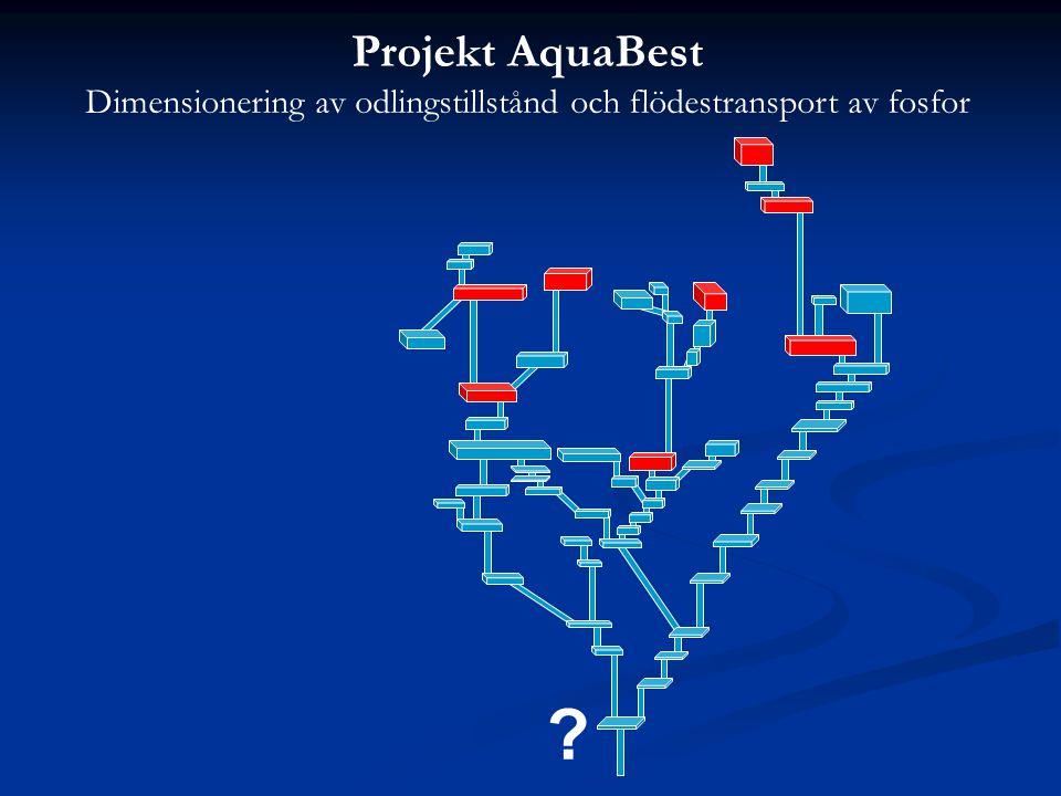 Projekt AquaBest Dimensionering av odlingstillstånd och flödestransport av fosfor ?