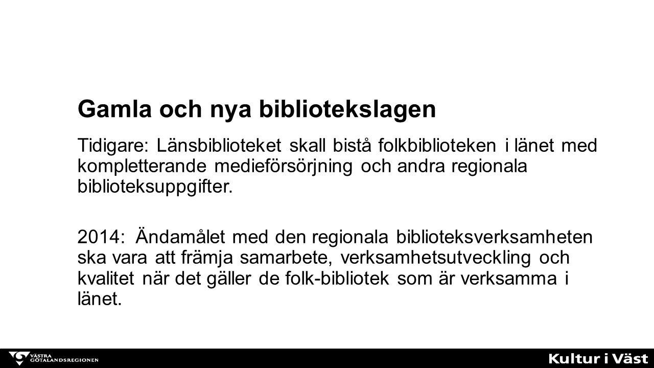 Tidigare: Länsbiblioteket skall bistå folkbiblioteken i länet med kompletterande medieförsörjning och andra regionala biblioteksuppgifter. 2014: Ändam