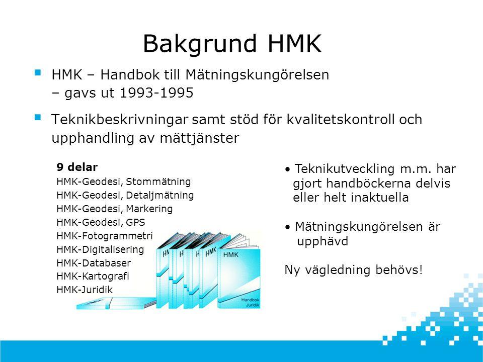 Vi vill att HMK ska vara  en handbok för en ny tid  där nya människor i nya roller ska använda nya metoder och ny teknik i nya tillämpningar och nya branscher  vilket innebär nya möjligheter men ställer nya krav Vad ska HMK vara?
