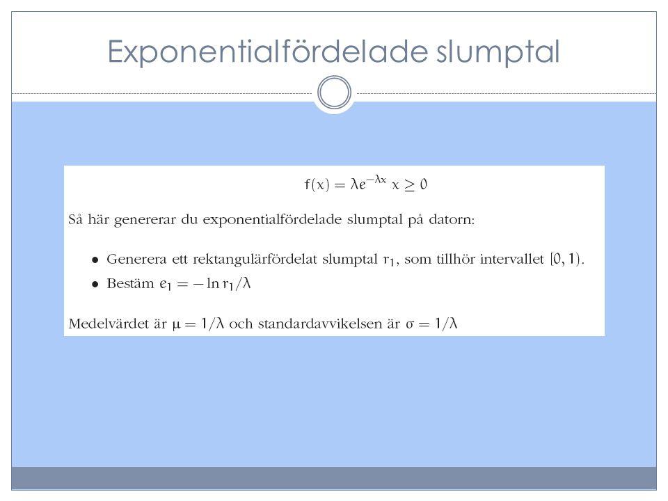 Exponentialfördelade slumptal