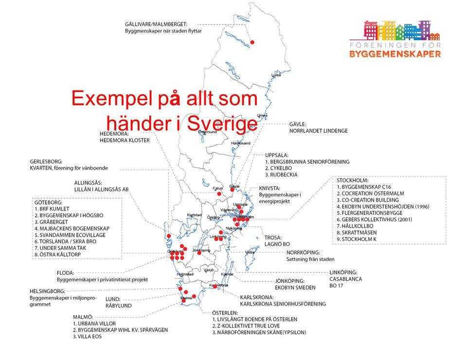 Sweden map Exempel på allt som händer i Sverige
