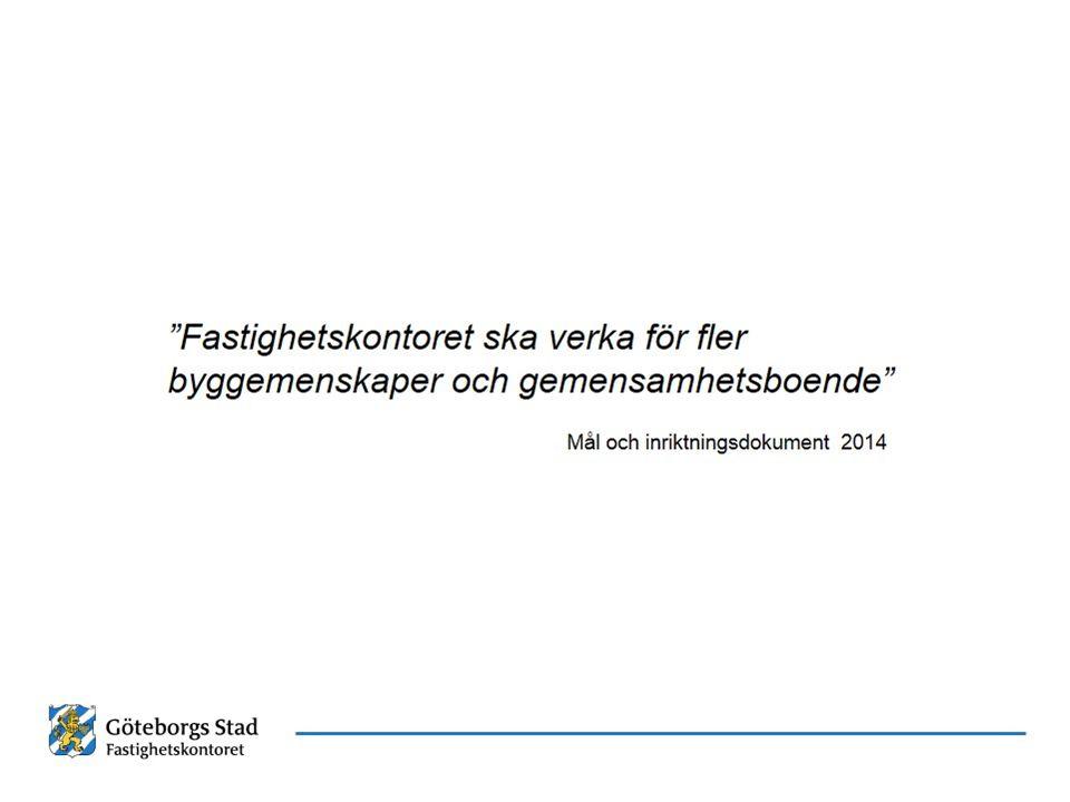 Stockholm behandlar alla byggherrar lika Exploateringskontoret i Stockholm ansvarar för stadens markinnehav vilket utgör ungefär 70% av kommunens yta: Vi behandlar byggemenskaper på samma sätt som vilken annan byggherre som helst Stockholmsmodellen bygger på att byggherrar på eget initiativ tar fram möjliga projekt Vi bedömer byggherrens ekonomi, stabilitet och intresse av långsiktig förvaltning Vi beaktar också aktörens tidigare projekt Byggherren står för all ekonomisk risk i samband med detaljplanearbetet Tiden mellan markanvisning och byggstart för ett bostadsprojekt kan vara 5-8 år, ibland längre.