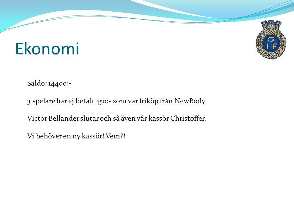 Åtaganden 2014 -Kiosk - 2 veckor på Strömvallen -P-vakt - 1 tillfälle -Ev försäljning