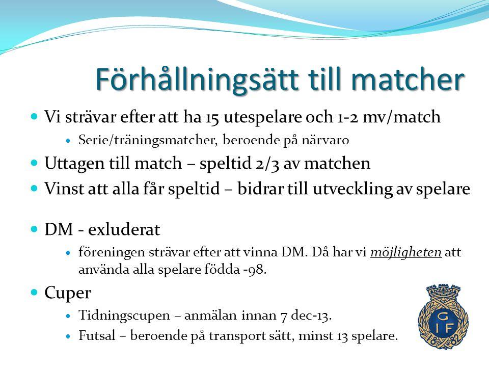 Träningstider.v.2-v.8  Måndag:Strömvallen kl. 19.15-21.00  Tisdag: Strömvallenkl.