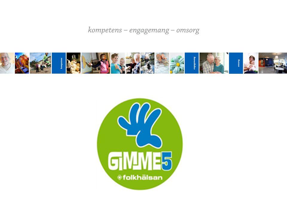 MÅL MED GIMME5 Vågar smaka nya sorter  ökar variationen i de frukter, bär och grönsaker som barn äter Ökat intag av frukt och grönt Kunskap om gällande rekommendation Förändrad attityd till frukt och grönt