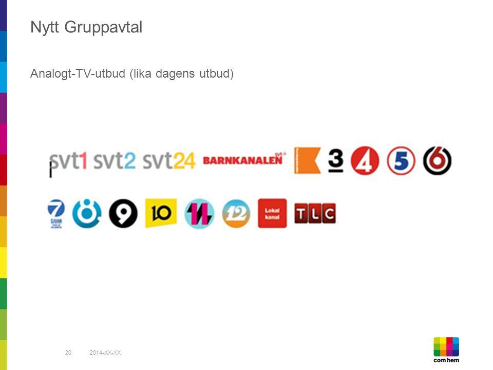 2014-XX-XX20 Nytt Gruppavtal Analogt-TV-utbud (lika dagens utbud)