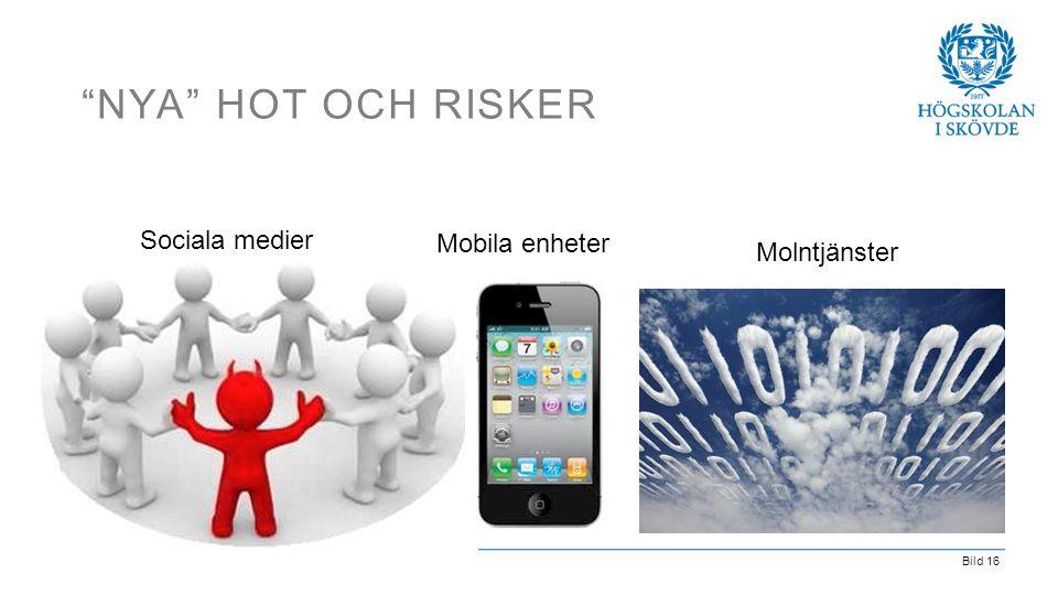 """Bild 16 """"NYA"""" HOT OCH RISKER Sociala medier Molntjänster Mobila enheter"""