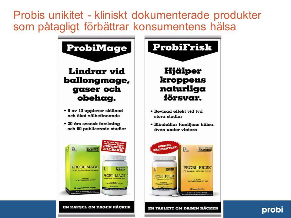 Probis unikitet - kliniskt dokumenterade produkter som påtagligt förbättrar konsumentens hälsa