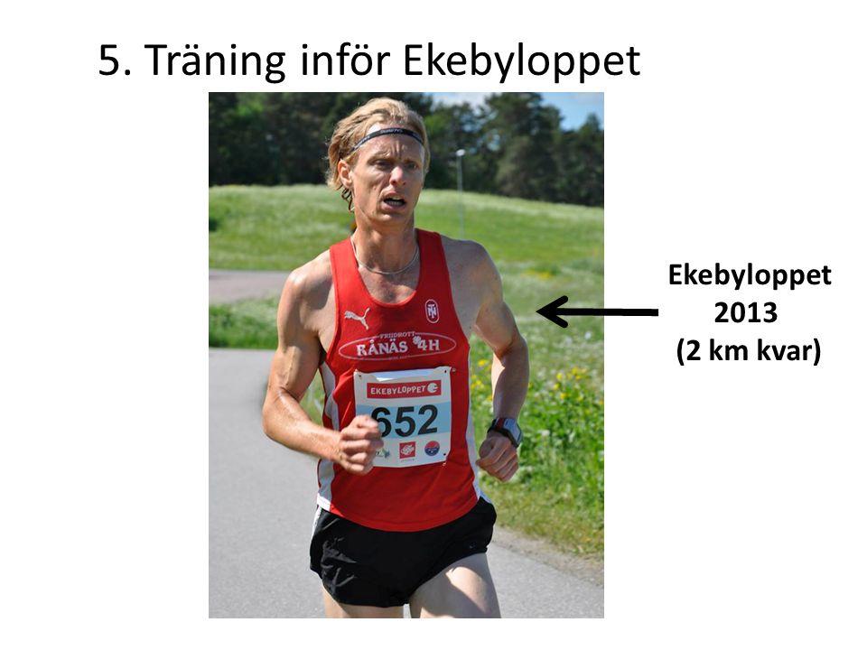 5. Träning inför Ekebyloppet Ekebyloppet 2013 (2 km kvar)